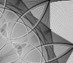 Ett utsnitt av en blomma i gråskala skapad av Context Free-användaren lagroue