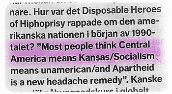 'Most people think Central America means Kansas'